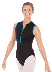 eurotard 33519 adult mesh back zipper front leotard