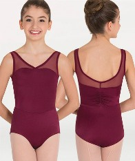 body wrappers p1001 childrens power mesh yokes leotard
