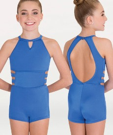 body wrappers p1131 child strappy keyhole boy cut leotard