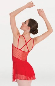body wrappers p1114 tiler peck diamond mesh skirt