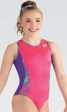 gk elite e3748 purple magic gymnastics leotard