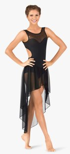 body wrappers tw615 twinkle mesh high low tank dress