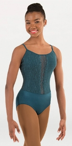 body wrappers p1092 child tiler peck wavy lines mesh camisole leotard
