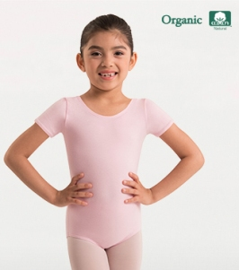body wrappers ogc120 child organic cotton short sleeve leotard