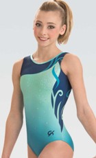 gk 3824 delicate blue classic tank gymnastic leotard