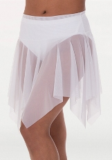 body wrappers bw9102 adult power mesh handkerchief hem skirt