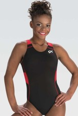 gk elite 3777 gymtek red wind gymnastics leotard