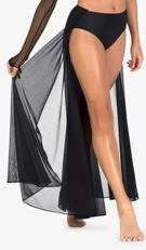 body wrappers bw9116 adult  chiffon open front long skirt