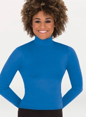 body wrappers mt224 adult long sleeve hi neck pullover