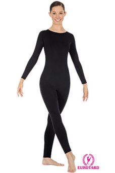 Eurotard 44130P Plus Size Microfiber Long Sleeve High Neck Unitard with Back Zipper
