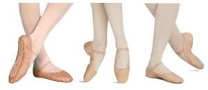 children's full sole leather ballet shoes